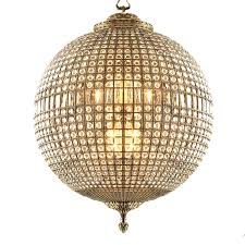 post modern crystal orb chandelier 11143