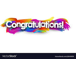 Congratulations Design Congratulations Paper Banner With Colorful Brush