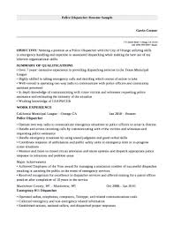 Dispatcher Resume Samples Police Dispatcher Resume Sample Doc Template Pdffiller