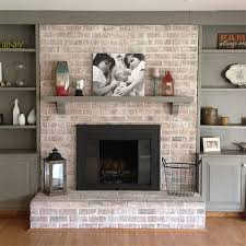 paint fireplace with whitewash and rust oleum high heat spray