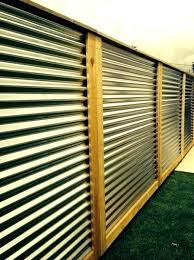 corrugated metal fence panels panel cost privacy