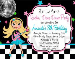 Disco Party Invitations Free Printable Inexpensive Braesd Com