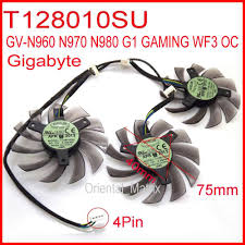 Free Shipping <b>3pcs</b>/<b>lot T128010SU</b> 75mm 4Pin For Gigabyte GV ...