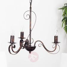 3 light rust coloured chandelier caleb 9620529 01