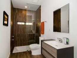 wood tile shower bathroom modern with shower conversion
