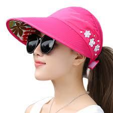 Ladies Designer Sun Visors Details About Women Lady Sun Hat Wide Brim Uv Protection Summer Beach Visor Cap