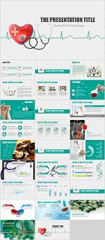 Medical Presentations Blue Medical Presentation Report Powerpoint Template Tzamid