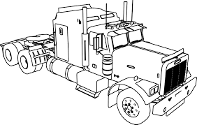 Small Picture Long Trailer Truck Coloring Page Wecoloringpage
