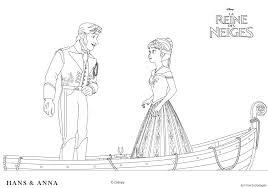 Coloriage Des Personnages Disney La Reine Des Neiges Hans Et Anna