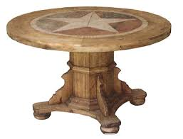 rustic round kitchen table. Round Rustic Dining Table With Star Inlay Real Wood Marble Free S/H Custom OPT Kitchen
