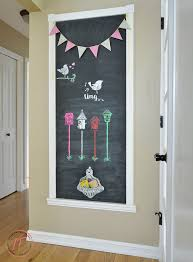 simple steps to make a chalkboard wall