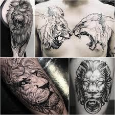 татуировки фото со львом