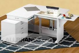 Tailormade Q-Teak or Q-White Quilters Vision Sewing Cabinet ... & Tailormade Q-Teak or Q-White Quilters Vision Sewing Cabinet 71x55x30