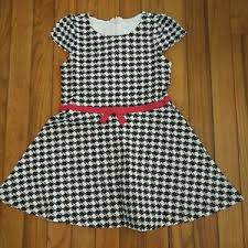 Gymboree Shoe Size Chart Inches Details About Nwt Gymboree Girls Olivia By Gymboree Houndstooth Dress Size 4