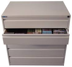 Lockable Dvd Storage Cabinet Storage Simple Grey Media Storage Cabinet With Five Drawers