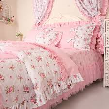 fl comforter sets queen free princess lace ruffle bedding kids soft 16