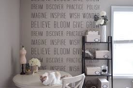 office makeover with wall decals the small things blog art for office walls