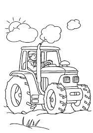 Dessin A Colorier Sur Les Tracteursl L