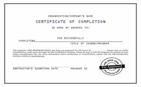 Certificate Of Completion Ojt Template Casadozander
