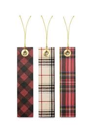 Cozy Flannel Like Holiday Gift Tags String 12 Count