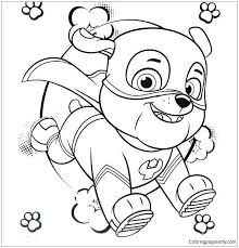Inspiring Paw Patrol Marshall Coloring Page Cone Crusherclub