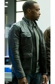captain america civil war sam wilson leather jacket