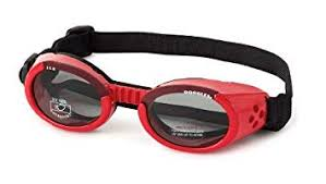 Doggles Dgil13 Ils Lense Dog Goggles In Shiny Red Size See