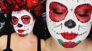 easy glittery sugar skull makeup tutorial
