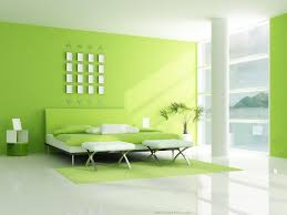 home paint colorsSimple Green White Bedroom Interior Design  4 Home Ideas