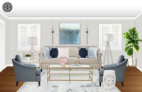 Create Living Room Designs Online Contemporary Classic Preppy Living Room Design By Havenly