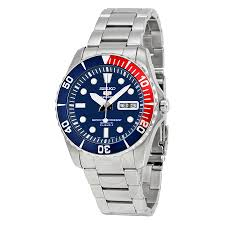 seiko 5 blue dial diver stainless steel automatic men s watch seiko 5 blue dial diver stainless steel automatic men s watch snzf15