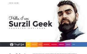 Geek Resume Portfolio Template Wrapbootstrap