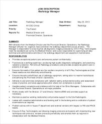 10 Radiologist Job Description Samples Sample Templates