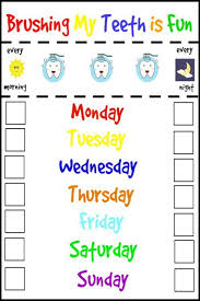Free Printable Tooth Brushing Chart Help Make Brushing Teeth Fun For Your Kids With These Simple