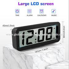 large digit display lcd wall clock date