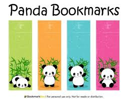 Bookmark Designs To Print Free Printable Panda Bookmarks Download The Pdf Template At