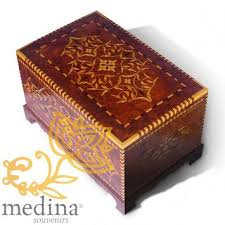 Large Wooden Boxes To Decorate Moroccan decoration Wood products Thuja wood box Fida large 15