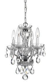 crystorama traditional crystal swarovski strass 4 light chrome mini chandelier