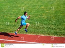 Runner Focused On Result Short Distance Running Challenge Boost