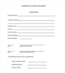 9+ Sammple Affirmative Action Plan Templates | Sample Templates