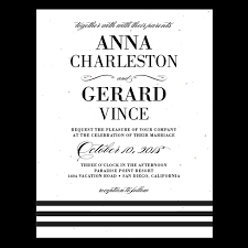 Black And White Invitation Paper Yours Truly Eco Plantable