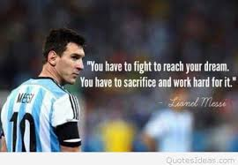 lionel messi quote about dreams