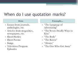 underlining italics vs quotation marks ppt video online  when do i use quotation marks