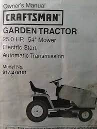 sears craftsman 25 0 h p 54 mower
