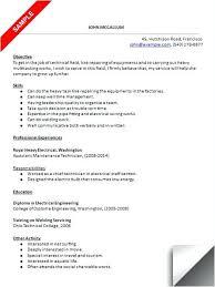 Mechanic Resume Sample Aircraft Mechanic Resume Mechanic Resume