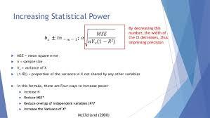 Statistical Power Formula Increasing Power Without Increasing Sample Size