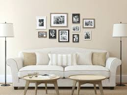 gallery wall set up art frame white