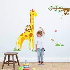 Giraffe Chart Details About Decowall Dm 1511 Giraffe Height Chart Wall Stickers