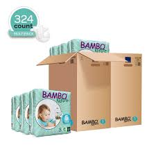 Details About Bambo Nature Baby Diapers Classic Size 5 26 49 Lbs 324 Count