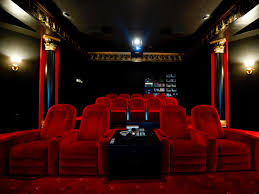 red theater chairs. Movie Theaters Chairs For Home Inspiration Ideas Theater With Red Velvet In Luxury Mansion HGTV